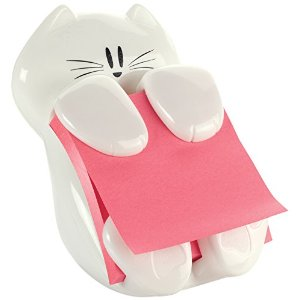 White Cat Shaped Pop Up Note Dispenser