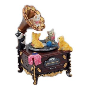 Cheerful Cats On Music Box