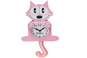 Cat Shaped Wall Clock