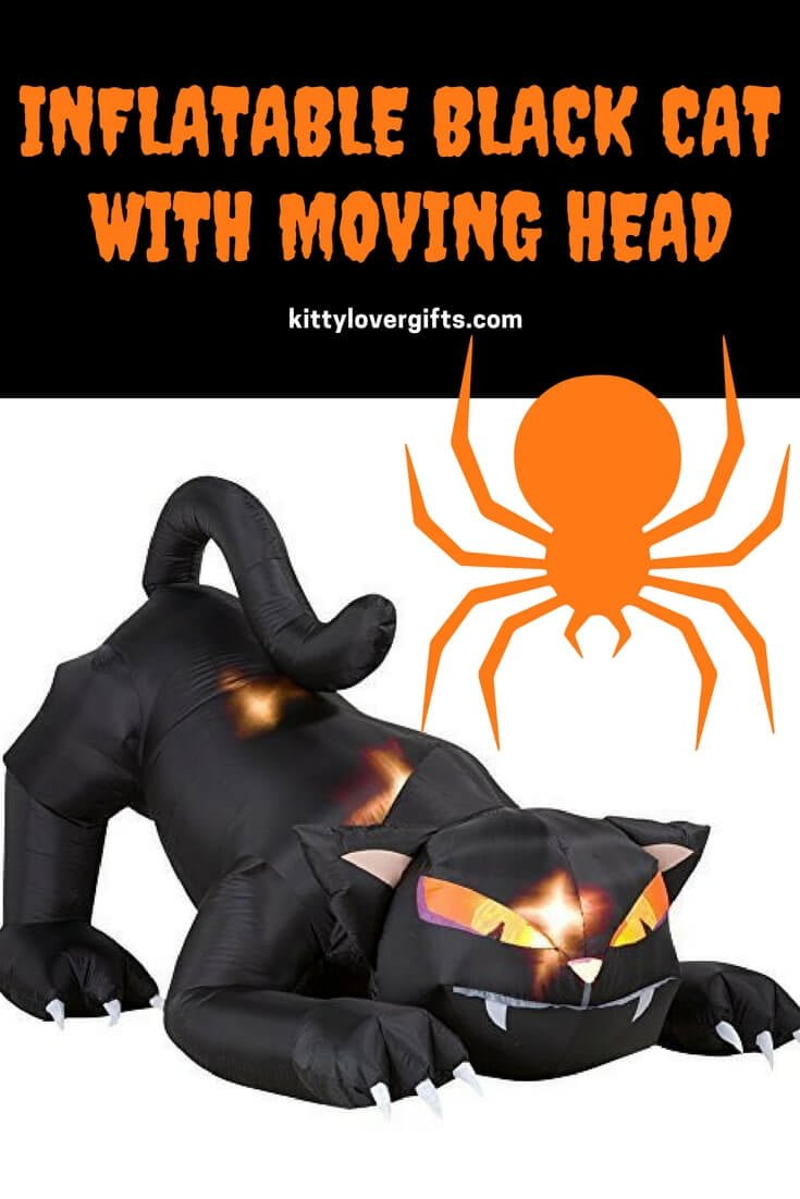 Inflatable Black Cat With Moving Head